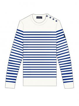 SWEATER KROGEN MEN ECRU/NAVY