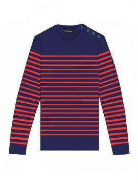 SWEATER KROGEN MEN NAVY/RED