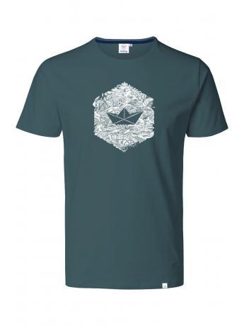 T-shirt délavé à manches courtes
