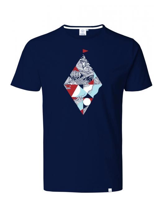 T-shirt BLEU FLOTTEUR ROUGE