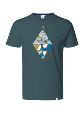 T-shirt GRIS HAUTE MER FLOTTEUR SAFRAN
